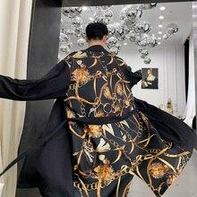 Sunscreen Male Windbreaker Men Fashion Casual Cardigan Jacket Windbreaker Outerwear Thin Long