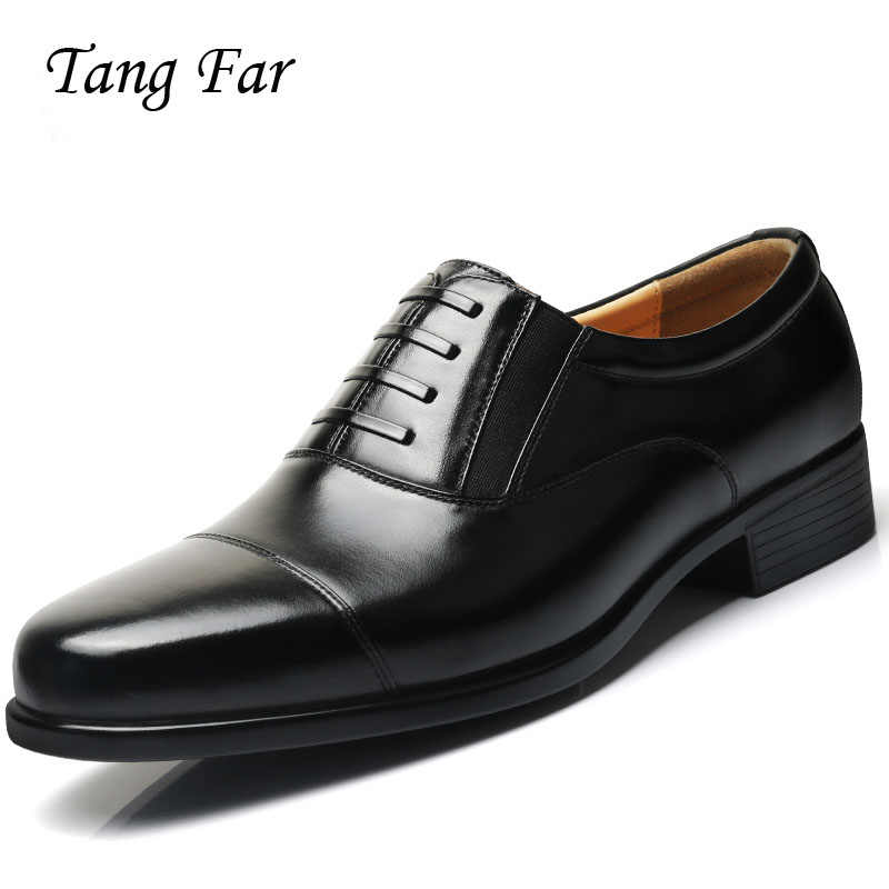 Plus Size Dress Formal Shoes Men Uniform Officer Shoes Three Joint Mens Military Shoes Pointed Leather Oxford Basic Party Shoe