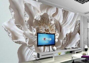 Große Dekorative Malerei blumen 3d Wandbild Tapete Für Schlafzimmer  Wohnzimmer Sofa Relief TV Hintergrund Wand