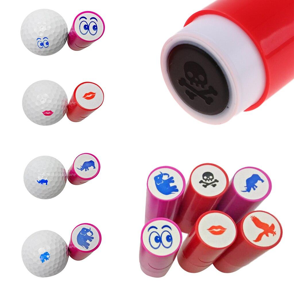 6Pcs Colorfast Quick-dry Golf Ball Stamp Stamper Marker Impression Seal Golfer Golf Fan Gift Golf Club Souvenir 6 Patterns