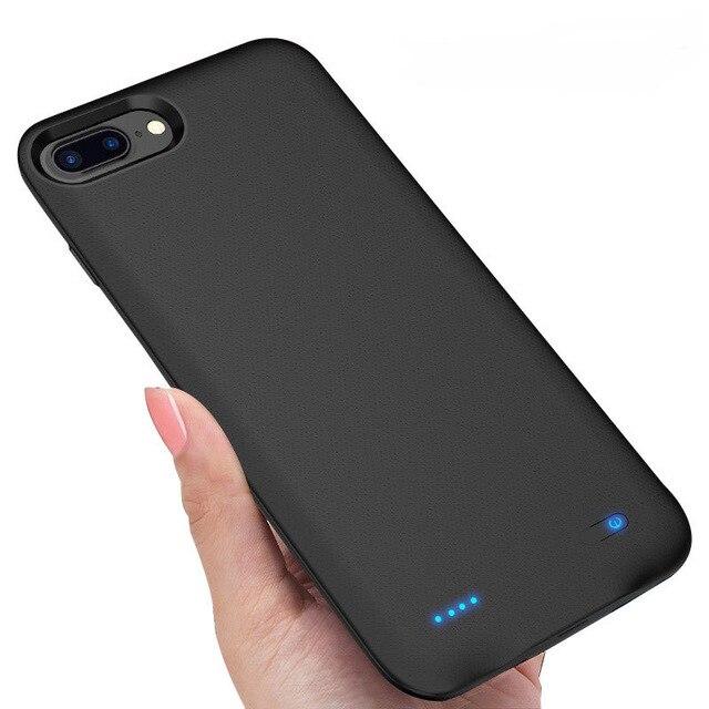 4000 mAh Portatile Molle Del Silicone di Caso Del Caricabatteria Per iphone 6/6s/7/8 Caso Cassa di batteria Con magnetico Accumulatori e caricabatterie di riserva