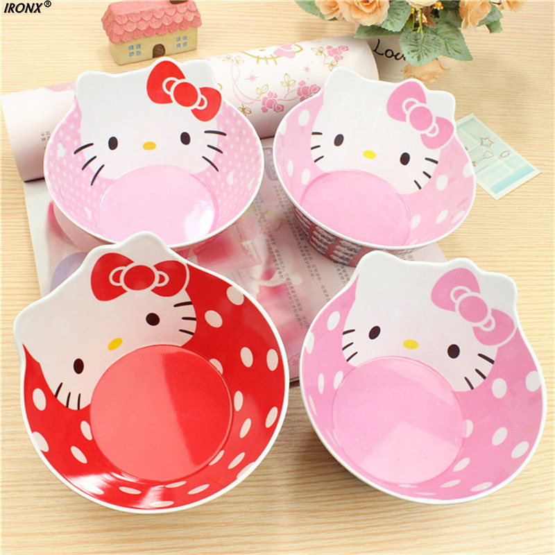Cutlery Hello Kitty Children Soup Bowl Utensils Food Grade Melamine Cartoon Rice Bowl C