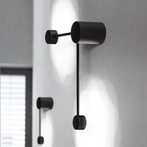 Image 3 - 2020 新ミニマルアートドットウォールライト現代の主導リビングルームの壁ランプ北欧クリエイティブ通路照明器具ブラックホワイト
