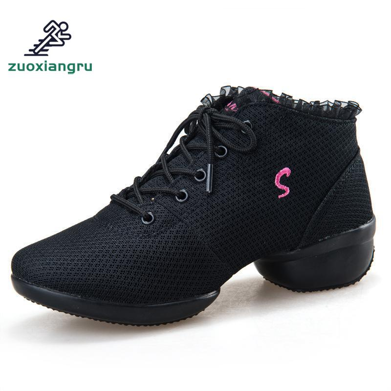 New Jazz Slip On Dance Sneakers Dancing Shoes For Ladies Dance Shoes Lace Mesh Womens Dancing Shoes High-heeled AdjustedNew Jazz Slip On Dance Sneakers Dancing Shoes For Ladies Dance Shoes Lace Mesh Womens Dancing Shoes High-heeled Adjusted