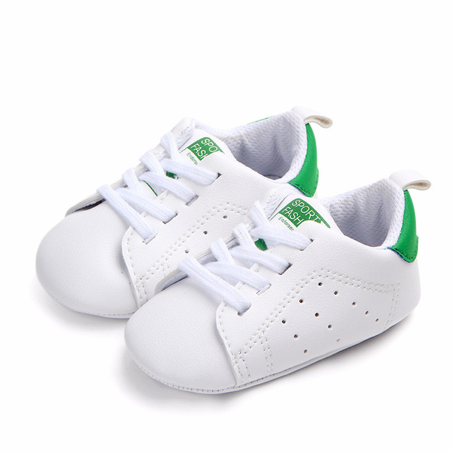 b03923aff7969 US $3.33 9% OFF|Infant Newborn Baby Boy Girl Casual Shoes Soft Sole Shoes  Lace up PU Pram Shoes Trainers 0 18Months-in Sneakers from Mother & Kids on  ...