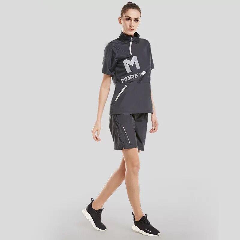 2PCS Women Running Sets Hot Sweat Training Fitness Workout Gym Tracksuit Sportswear Plus Size Sports Jogging Suits Reflective