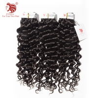 [FYNHA] Malaysian Virgin Hair Bouncy Curly Weave Human Hair 3 Bundles Deal Natural Black Extensions Italian Curl
