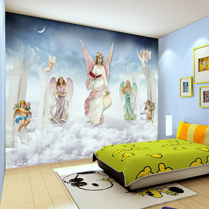 custom photo wallpaper wall murals wall stickers European modern angel personalized customization living room mural TV wall european style murals ktv bar cafe personalized wallpaper abstract wallpaper living room sofa arts wallpaper mural