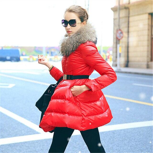 Down coat 2018 Doudoune femme New Luxury Fur Collar Womens down jacket Black/Red/Blue  Size S-XXL  Winter coat women 3