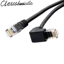 90 Degree Down Angled 8P8C UTP Cat 5e Male to Male Lan Ethernet Network Patch Cord Cable 1m