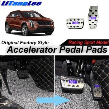 LitangLee zdalnie sterowana pedał gazu osłona na pad stóp przepustnicy pedał na Sport wyścigowy modelu dla Cadillac XT4 2018 ~ 2019