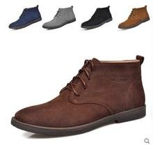 Мужчины Сапоги + Мех Открытый Botas Мужчины Работают Обувь Из Натуральной Кожи Осень Зима Лето Мужской Обуви Черный Большой Размер 38-47