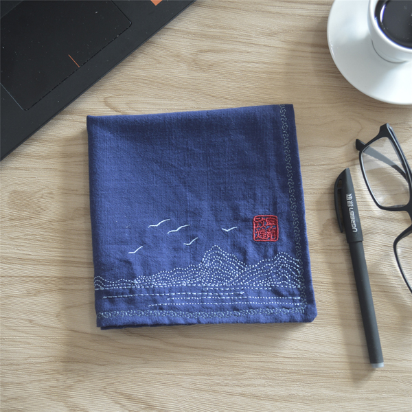 Christmas Cotton Embroidery Flower Man Chinese Wind Restoring Ancient Ways Handkerchief Foreign Guests Present