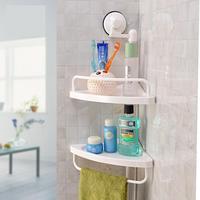 Wall Mounted Bathroom Corner Storage Shelf Prateleira Kitchen Corner Storage Organizador Suction Cup Spice Storage Rack