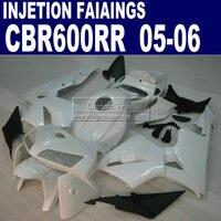 Injection fairings kit for Honda 600 RR fairing CBR600RR 2005 2006 05 06 all white bodykits & seat cowl