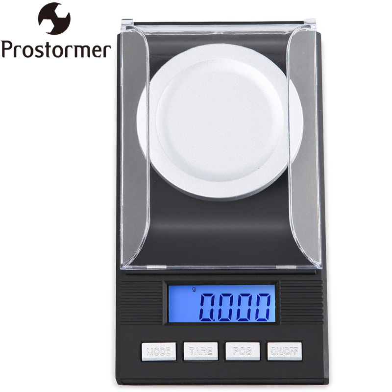 Prostormer Electronic Digital Pocket Scale Gram 0.001g High Precision Jewelry Scale LCD With Backup Light Weight Scales D33
