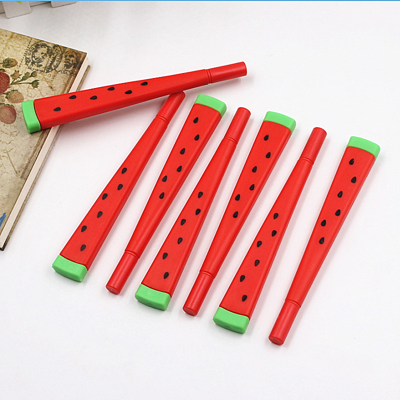 все цены на 1pcs Cute Kawaii watermelon Gel Pen Writing Signing Pen School Office Supply Student Stationery Rewarding 0.38mm онлайн