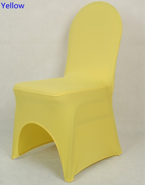Cover Chairs Wholesale Reclining Camp Chair Colour Yellow Spandex For Wedding Decoration Banquet Lycra Dinning Arch Front Open