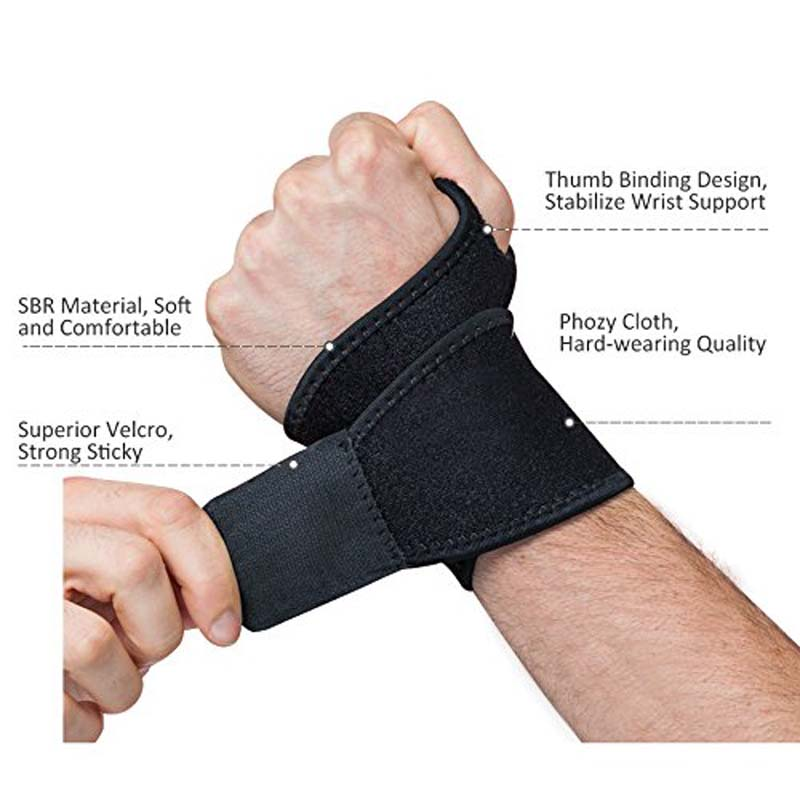 Reversible Sports Wrist Brace, Fitted Right / Left Thumb Stabilizer, Wrist Support Wrap for Badminton Tennis Weightlifting