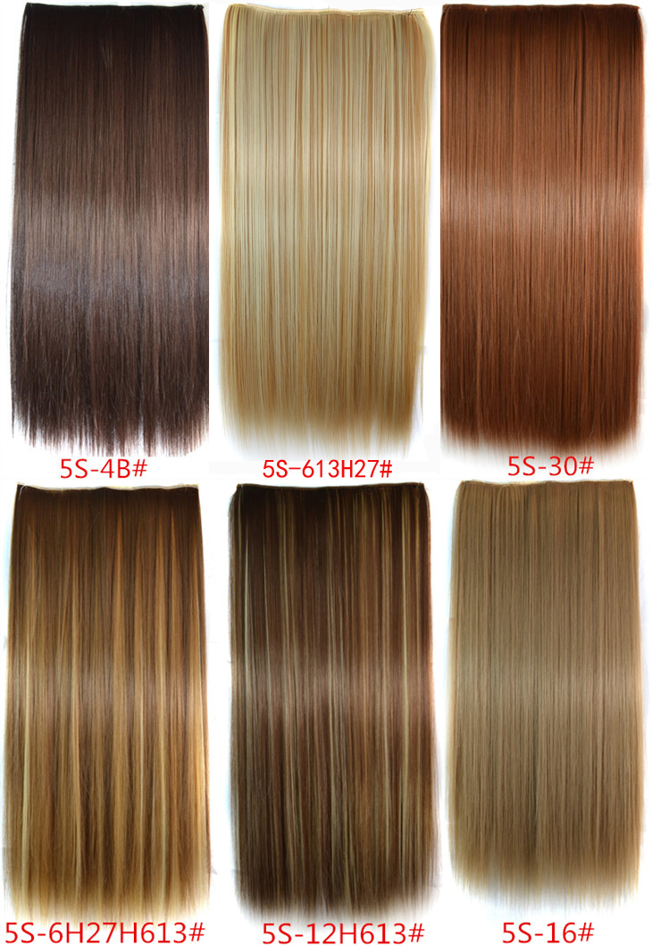 30 Colors 216 5 Clip In Hair Extensions Synthetic Straight Hair