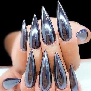 Image 3 - Urodzony królowa wyróżnij czarny proszek do paznokci dający lustrzany efekt błyszczy lśniące pigmenty do paznokci chrom pyłu Manicure zdobienie paznokci dekoracje