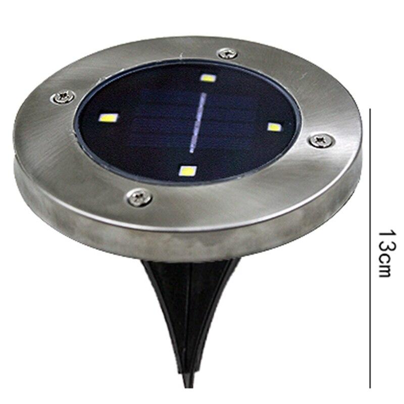 LanLan Neue Wasserdichte 4 LED Garten Dekoration Wasserdichte Solar Powered Unterirdischen Begraben beleuchtung Lampe Handel werkzeuge