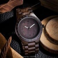 2015 New Natural Black Sandal Wood Analog Watch BEWELL Japan MIYOTA Quartz Movement Wooden Watches Dress