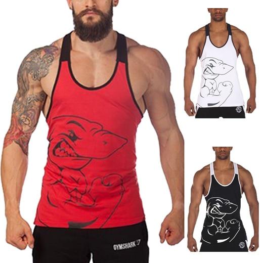 907364bcdb5ac Hot selling men gym shark tank top bodybuilding stringer tops fitness  gorilla wear MO