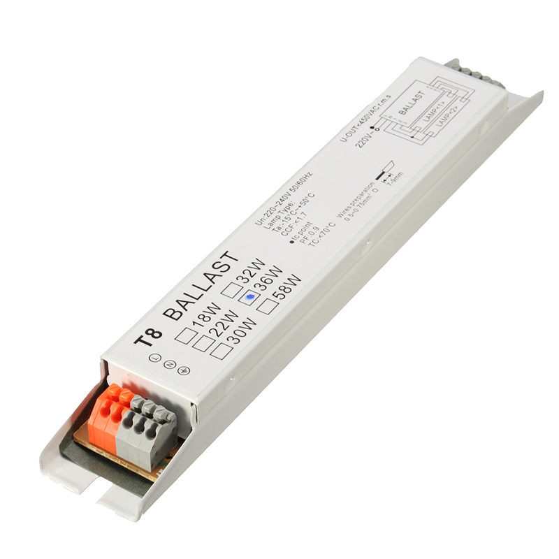 220 240V AC 36W Wide Voltage T8 Electronic Ballast Fluorescent Lamp Ballasts