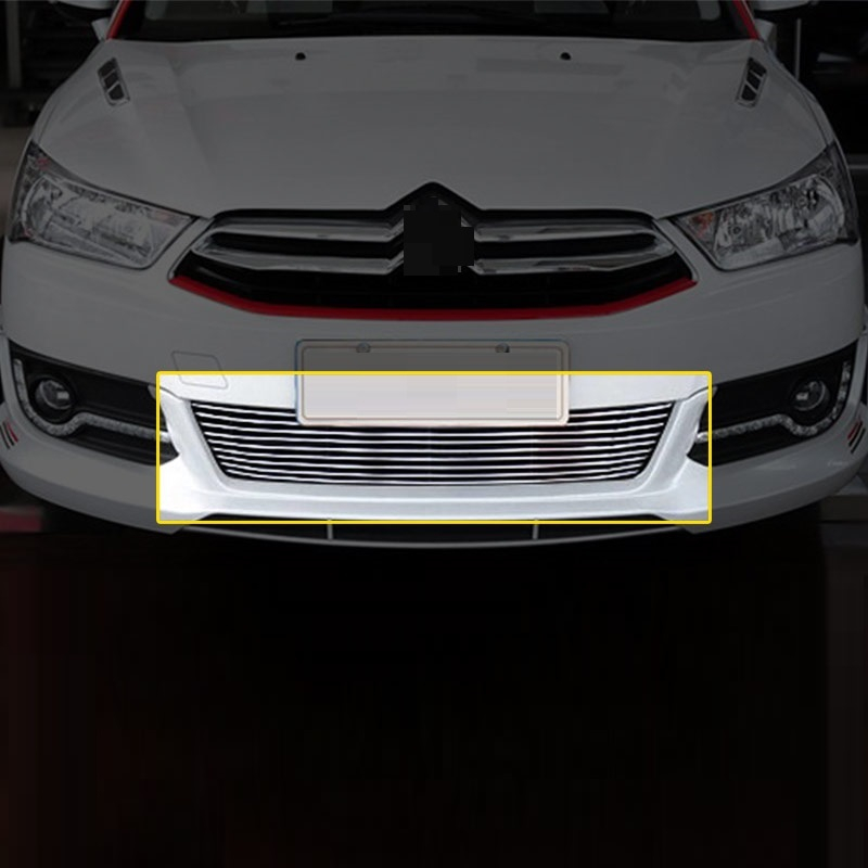 Front Bumper Grille automobile upgraded car styling sticker strip accessory modification accessories covers 14 FOR Citroen C4 car styling 5 meter reflective sticker automobile luminous strip car