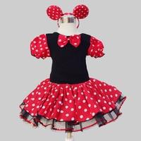 Toddler Girl Halloween Cartoon Clothing Girls Polka Dot Party Fever Costumes Dress Roupa De Ballet Infantil