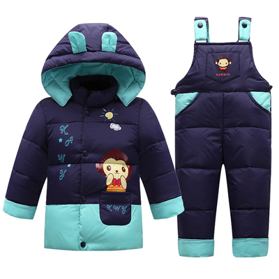 Baby Boys Suit Jacket Children Down Jacket set Kids Girls Winter Clothes Down Jacket Warm Thick Coat Set Down Outdoor Clothing newborn boys girls winter warm down jacket suit set thick coat overalls suits baby clothes set kids hooded jacket with scarf