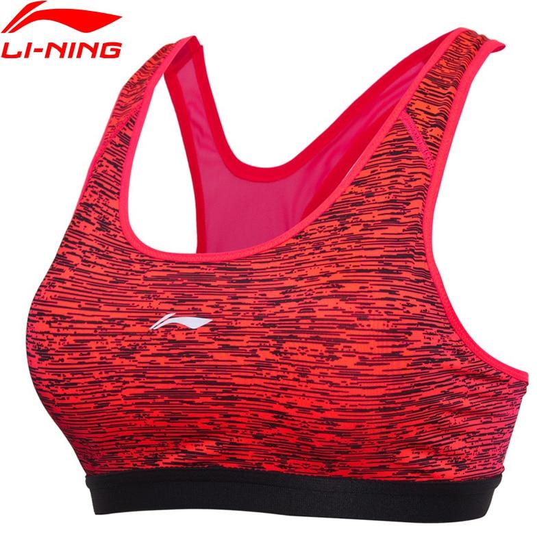 (ausverkauf) Li-ning Frauen Läuft Bhs Medium Unterstützung 83% Polyester 17% Spandex Futter Breathabl Sport Bhs Aubm162 Wbj151 Bestellungen Sind Willkommen.