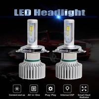 Newest 2pcs Lot T5 Car LED Headlight Bulbs 3 Colors H4 LED H7 9005 9006 H11