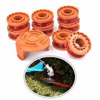 8 PCS Nylon Lawn Trimmer Line Cord Wire String with 1 Cover 1.65mm*3m Grass Strimmer Line For Worx Lawn Mower Grass Cutter