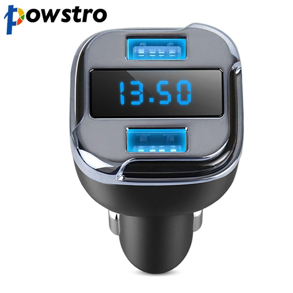 Powstro Dual USB 4.2A Auto-ladegerät & APP GPS Auto Finder Locator mit Voltmeter Strom Erkennen Smart Schnellladung Für Samsung