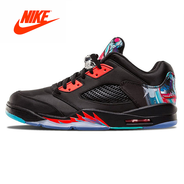 1729a6860cbfdf Original New Arrival Authentic Nike Air Jordan 5 Retro Low CNY Chinese Kite  Men Basketball Shoes Outdoor Comfortable Sports