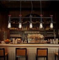 Ретро Лофт стиль водопроводная лампа Эдисона подвесные светильники винтажное промышленное освещение для столовой подвесные лампы