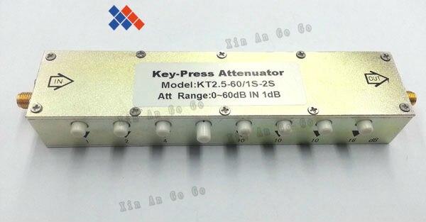 SMA female Coaxial adjustable attenuator SMA-KT2.5-60/1S-2S 1db-60dB free shipping