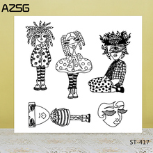 AZSG Grotesque Woman Clear Stamps/Seals For DIY Scrapbooking/Card Making/Album Decorative Silicone Stamp Crafts