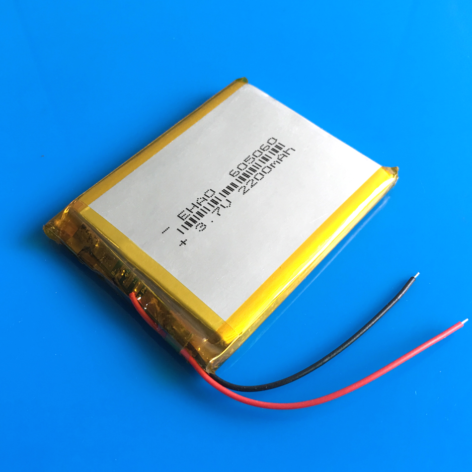 605060 3.7V 2200mAh lipo polymer lithium rechargeable battery cell for GPS navigator DVD power bank Tablet PC PAD PDA camera GPS shun core 2500mah 605060 3 7v story learning hine flash shoe lithium polymer battery 654958
