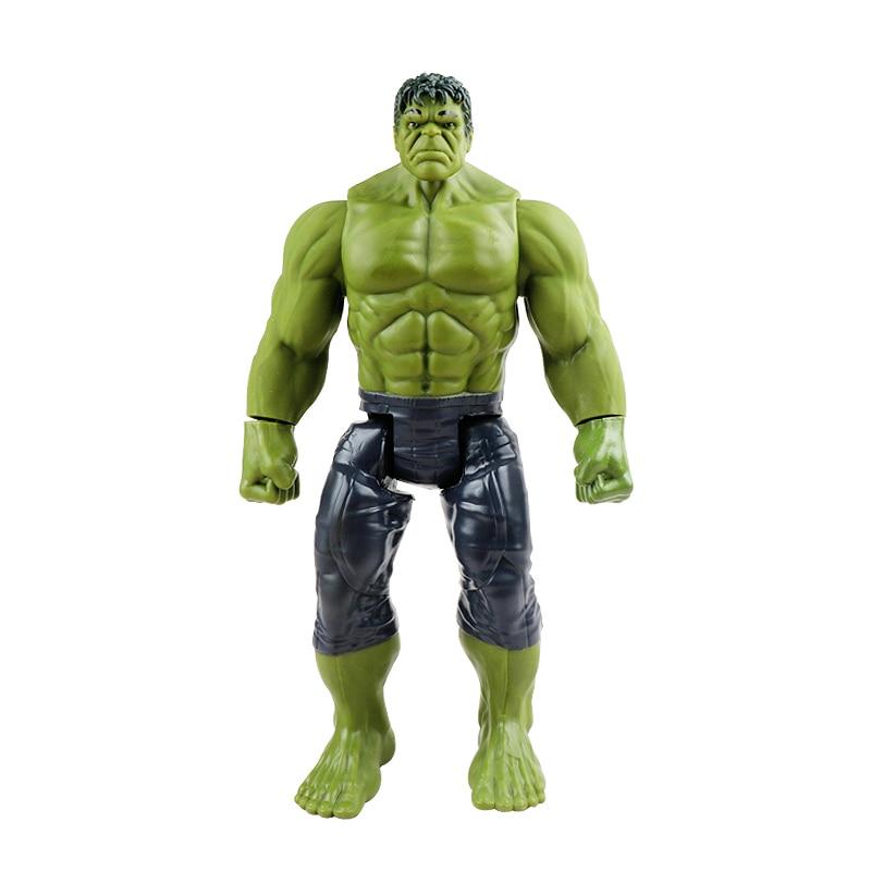 30 см Marvel Мстители эндшпиль танос Человек-паук Халк Железный человек Капитан Америка Тор Росомаха Веном Фигурка Игрушки Кукла Детская - Цвет: Hulk no box