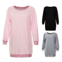 Autumn Women Long Sleeve Loose Sweatshirt Fall Sweater Dress T Casual Long Pullover Jumper