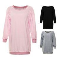 Autumn Women Long Sleeve Loose Sweatshirt Fall Sweater Dress T Casual Long Pullover Jumper