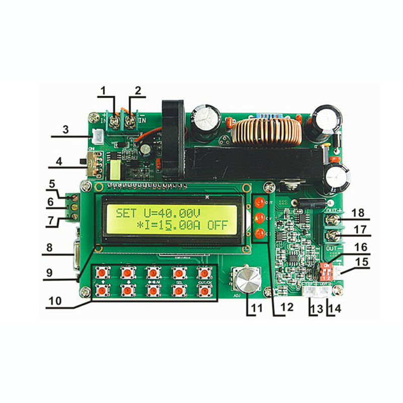DPS-6015  single output programmable switch power supply  60V 15A 900W  DC-DC   TTL serial interface