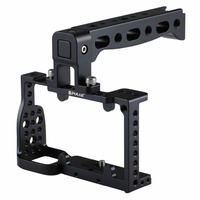 PULUZ Camera Cage Handle Stabilizer Neewer Aluminum Corrosion Resistant and Durable Camera Cage for Sony A6300 / A6000 (Black)