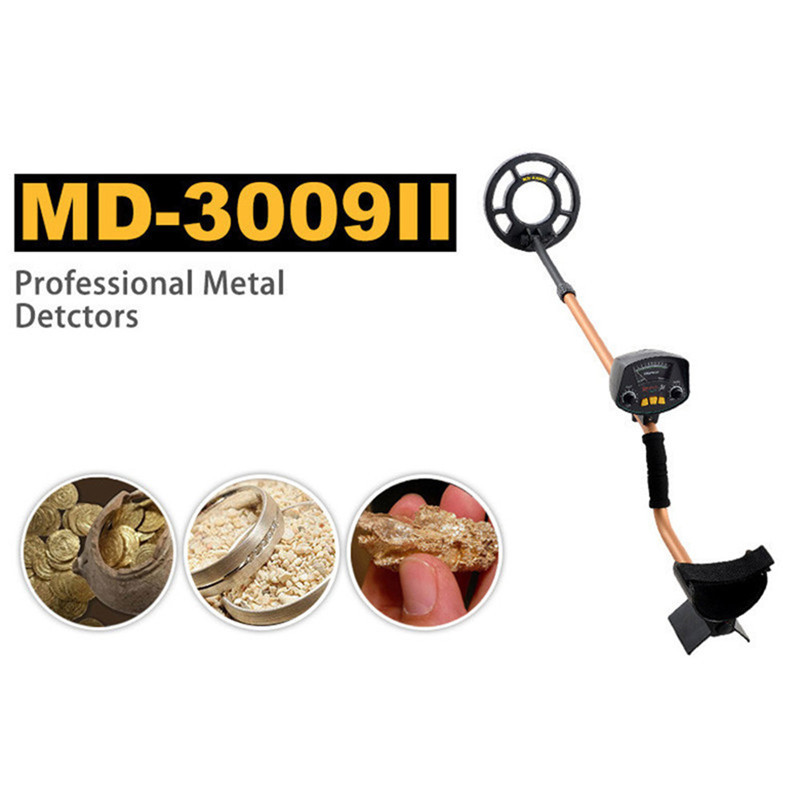 Free Shipping MD-3009II Depth Underground Treasure Searching Metal Detector кувалда truper md 6f 19884