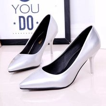 Women Shoes Designer Luxury 2016 Pumps Womens Heels High Zapatos Mujer Chaussure Femme Woman Pointed Toe Slip-on Rubber