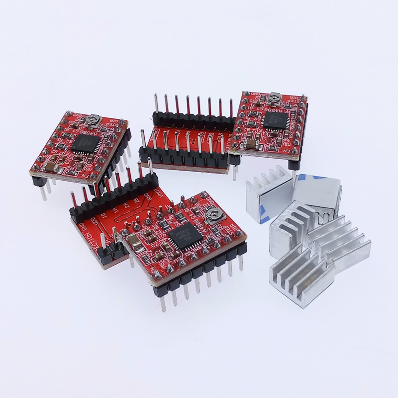 5pcs 3D Printer parts stepper <font><b>driver</b></font> A4988 stepper <font><b>motor</b></font> <font><b>driver</b></font> module with heat sink image