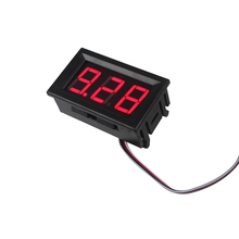 Для автомобилей, мотоциклов, транспортных средств, постоянного тока 4,5-30 в, красный светодиодный вольтметр с цифровым дисплеем, 2 провода, мини-измеритель напряжения, Вольт-тестер, панель для постоянного тока 12-24 В